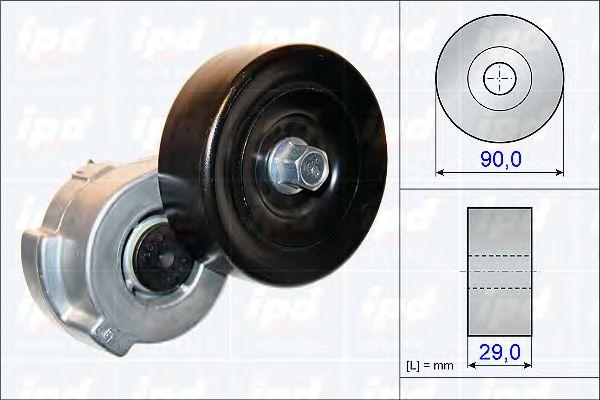 DODGE CARAVAN 3.3 Ременный привод Поликлиновой ремень / комплект Натяжная планка.